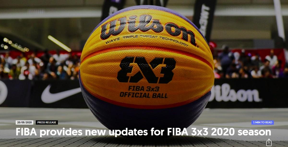 国际篮联8月重启3对3全球赛事