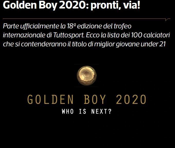 2020欧洲金童奖候选名单公布 哈兰德、桑乔领衔